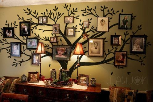 Forget the decal!  I am painting a family tree portrait wall in my living room  :D