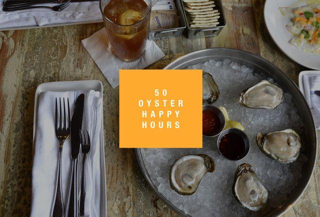NYC oyster happy hours by neighborhood @gretchen @Jason Tropp @Thecakesmith Helenkuper