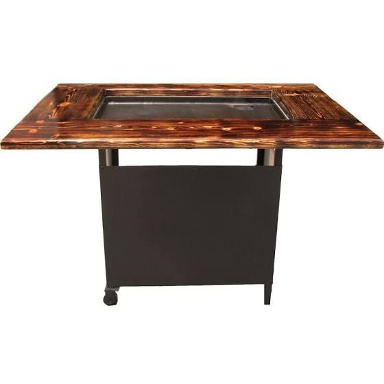 outdoor hibachi grill table