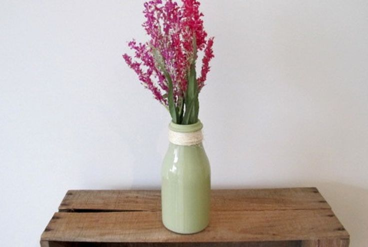 Rustic In A Frame @ Etsy, Painted Glass Jar ($12.00)