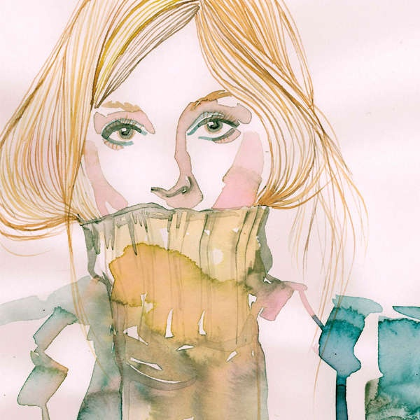 Feminine Watercolor Portraits - The 'Watercolor: Paintings by Contemporary Artists' is Lovely