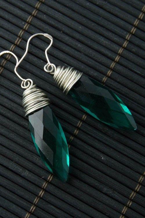 Macy Earrings - Green