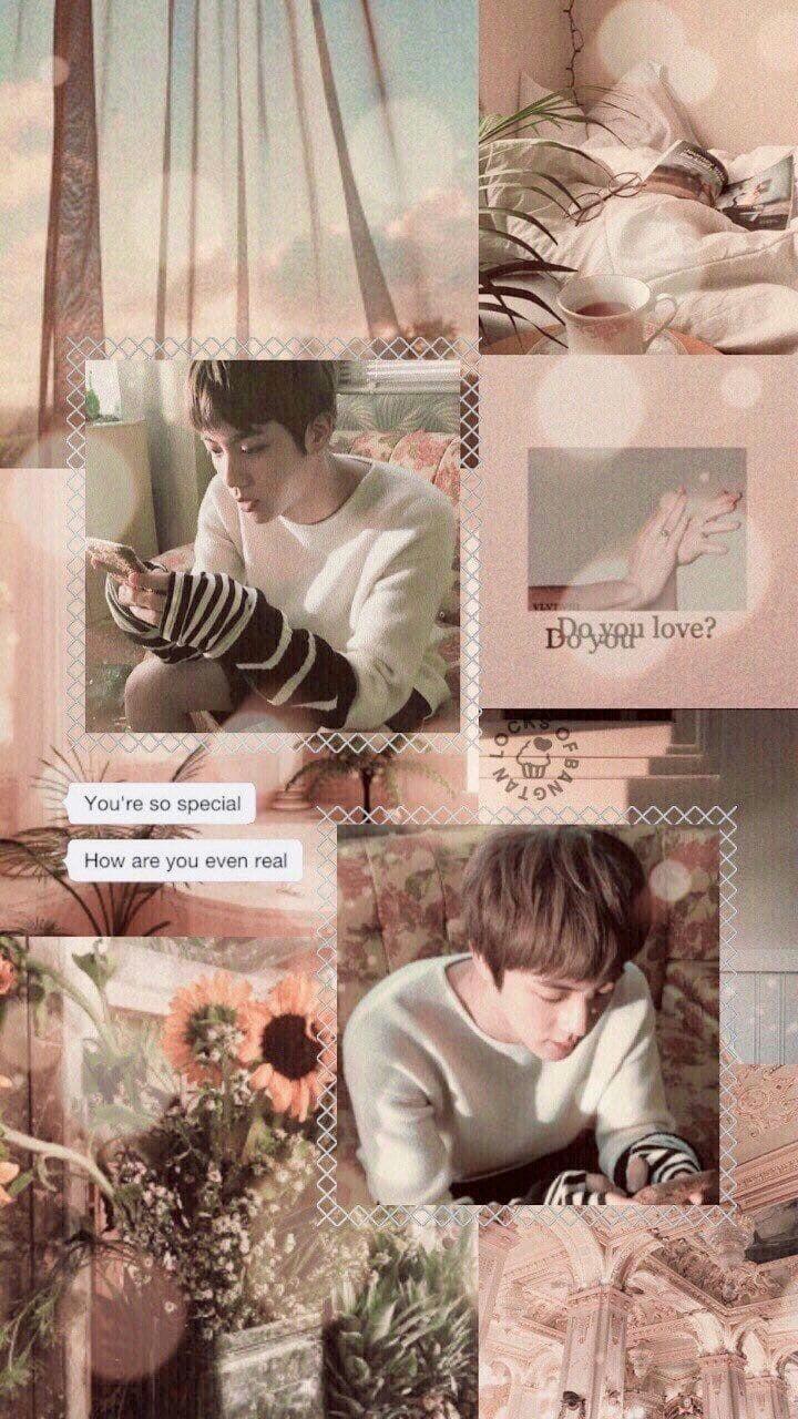 Kim Seokjin Wallpaper Lucu Kolase Kolase Foto