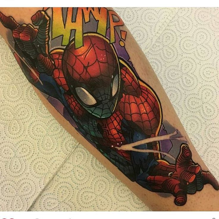 Who's you're favourite Marvel character? Spiderman tattoo by @4ndy_w4lker  #spiderman #spidermantattoo #marvel #marvelcomics #comicbook #videogametattoo #comic Thanks again 4ndy!
