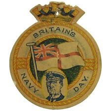 WW1 Flag Day Fund Pin Badge - Royal Navy Flag Day Admiral Jellicoe Naval - JZ34