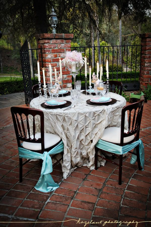 ladies night turquoise weddings breakfast at tiffanys table scapes