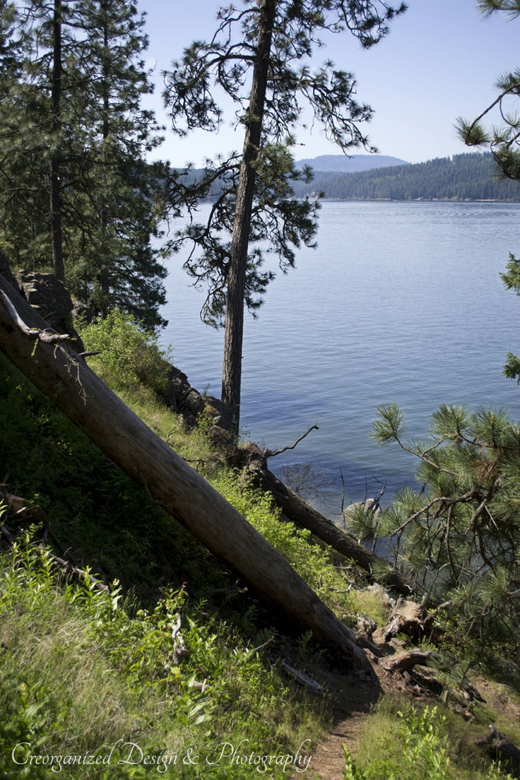 Cottages amp campground rentals riverview cottages campground jackman - Cda Lake From Tubbs Hill