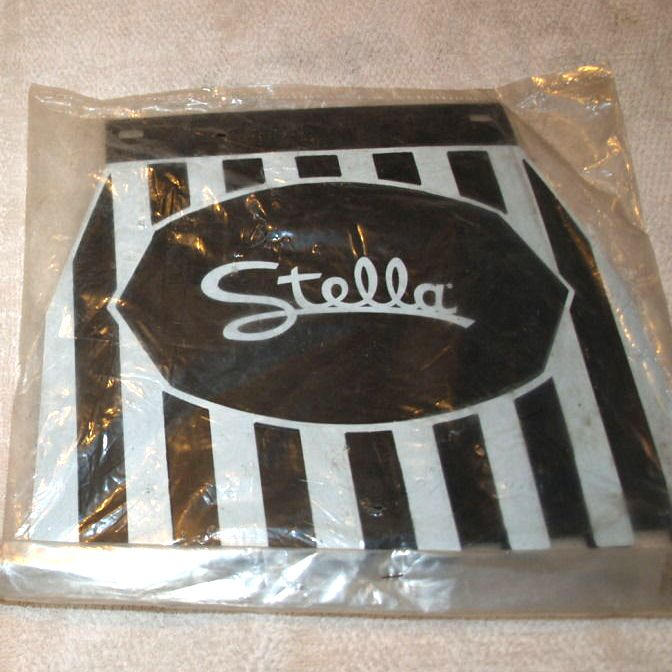 Genuine Stella New Old Stock Black and White Mud Flap