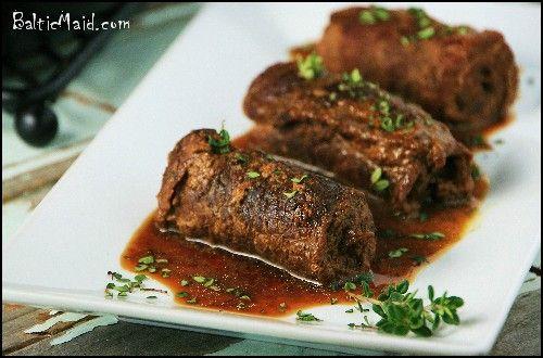 Rouladen - German beef rolls just like Grandma Anna Winter used to make.