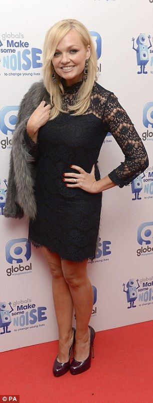 Emma Bunton was lovely in lace in a LBD