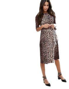 Платье с леопардовым принтом для будущих мам Asos Maternity