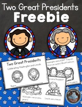 "Here is an emergent reader that will help you navigate the simple facts of two great Presidents...George Washington and Abraham Lincoln.  Made especially for the littles, this 8 page reader highlights the basics...simple text, engaging graphics, and a handful of interesting facts about Washington and Lincoln.**Please select ""FIT"" when printing this emergent reader**Thank you so much for stopping by Miss Hellen's Hippos!"