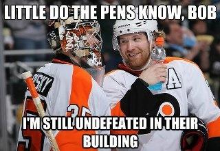 little do the Pens know, Bob...