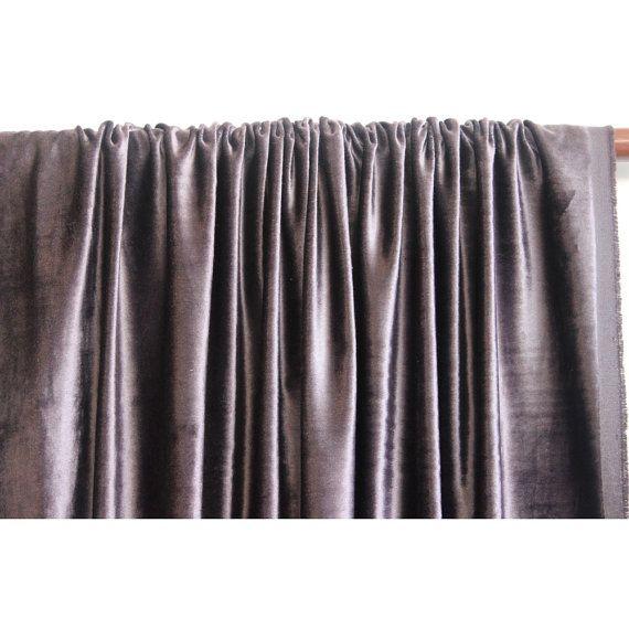 Dark Purple Grey Velvet Curtain 52x84 Rod Pocket by TheHomeCentric, $99.00