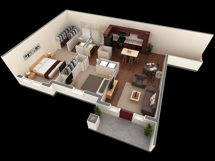 Best Two Bedroom Apartments Ideas On Pinterest Two Bedroom - Two 2 bedroom houses and homes