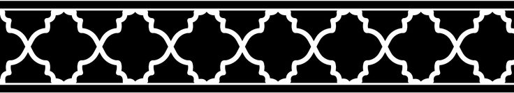 Sweet Jojo Designs Black and White Trellis Collection Wall Paper Border