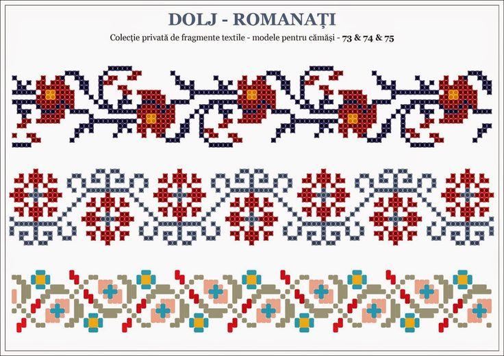 Semne Cusute: motive traditionale romanesti OLTENIA Dolj - Romanati