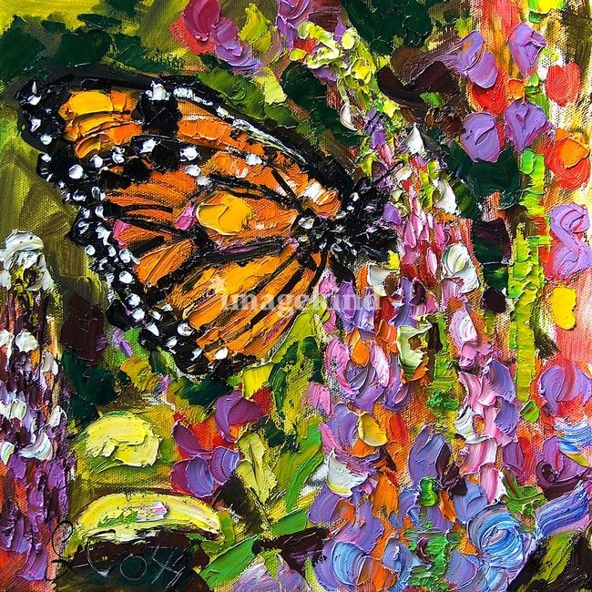 Quot Monarch Butterfly On Lupines Original Oil Painting Quot By