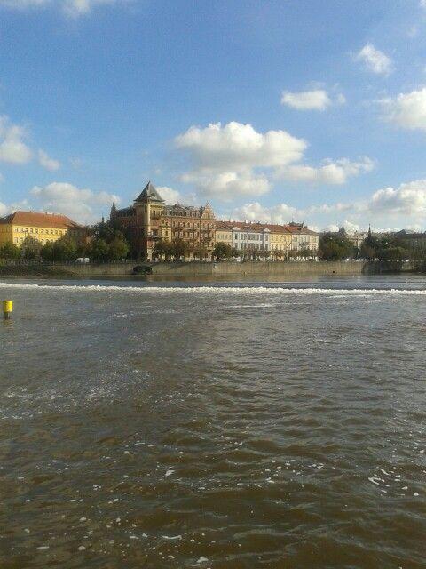 View from vltova river