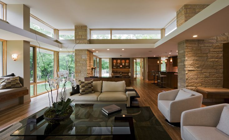 Living Room Charles Stinson Architect Laurie Plattes Interior