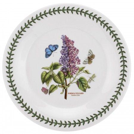 Portmeirion Botanic Garden (Mandarin Shape) 10 inch Plate - Lilac - Botanic Garden -Portmeirion UK