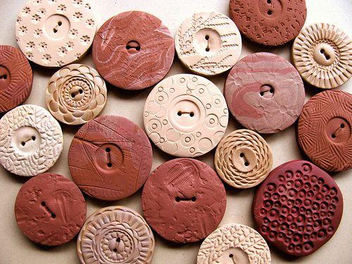 Daily Art Inspiration 3/1/10-Polmer Clay Buttons by Lynn_EL/UnaOdd, via Flickr