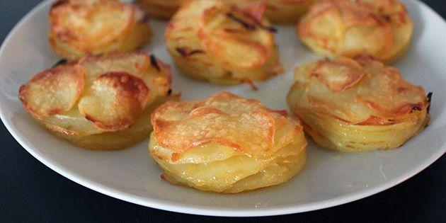 Lækre og sprøde kartofler i lagvis. - udskift kartoflerne med kinaradisse