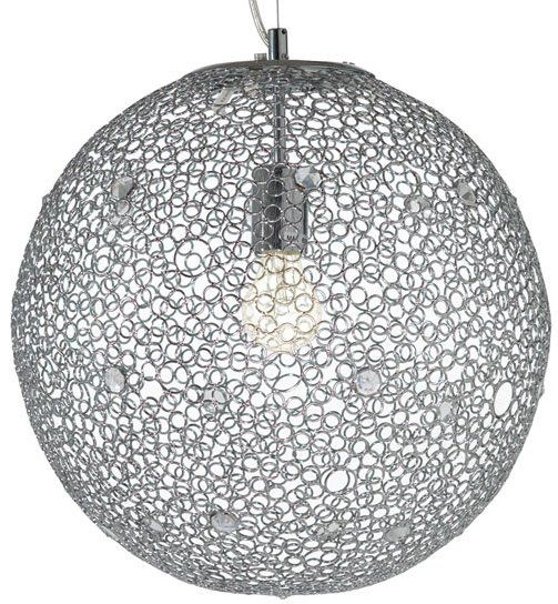 Big bulby and blingy pendant lamp $442.00... wonder if i can redo this with key rings and super glue???