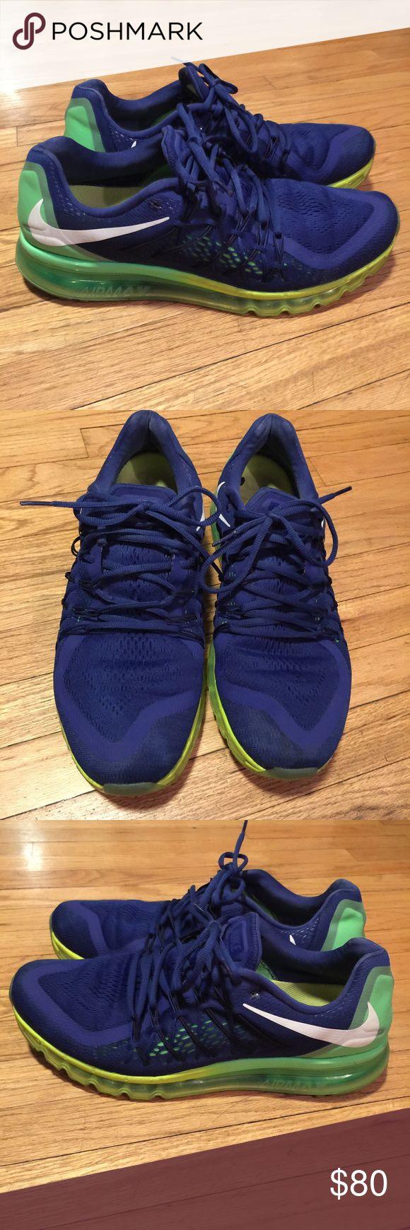 Mens Nike Air Max 2015 Royal Blue/Black - Size 13 Mens Nike Air Max 2015 Royal Blue/Black - Size 13. Used but great condition. Nike Shoes Sneakers