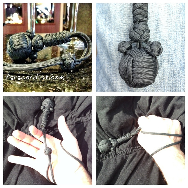#Paracordist Creations LLC: #Paracord monkeys fist #knot with 4 strands out http://blog.paracordist.com/2012/12/paracord-monkeys-fist-knot-with-4.html #selfdefense