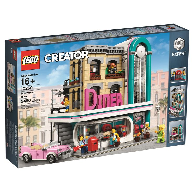 #LEGO Creator Downtown #Diner (10260) Officially Revealed  https://www.thebrickfan.com/lego-creator-downtown-diner-10260-officially-revealed/