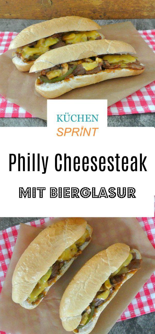 Philly Cheesesteak mit Bierglasur