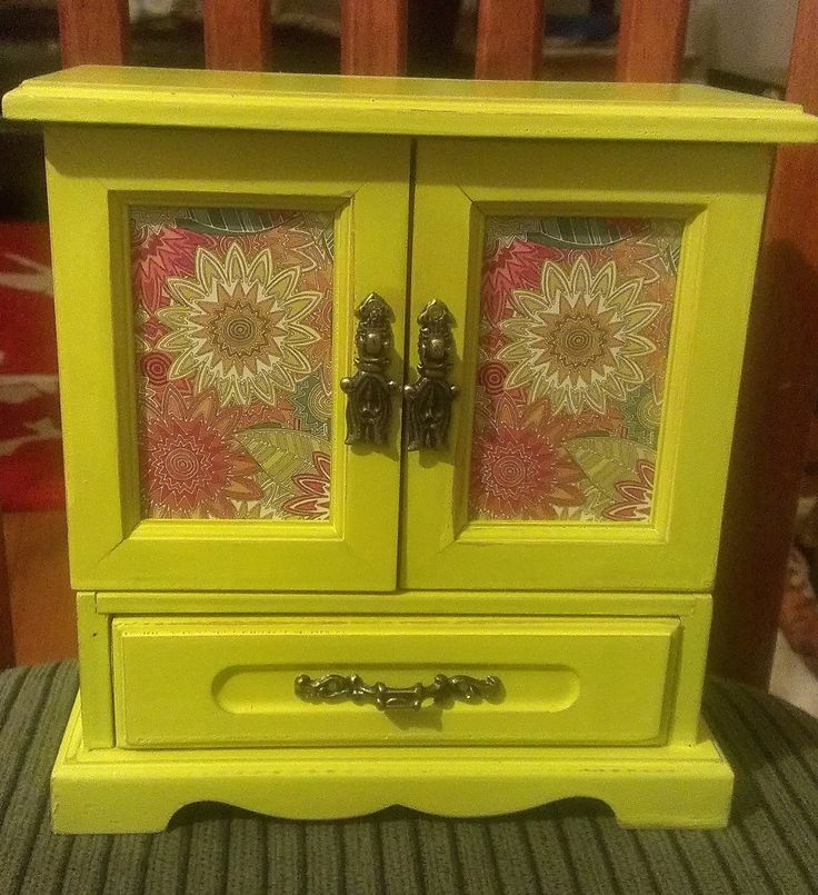 Shabby Chic Wooden Upcycled Jewelry Box