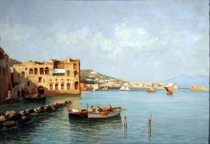 Vincenzo Canino (Napoli 1892 - 1978) Palazzo Donn'Anna (Napoli)