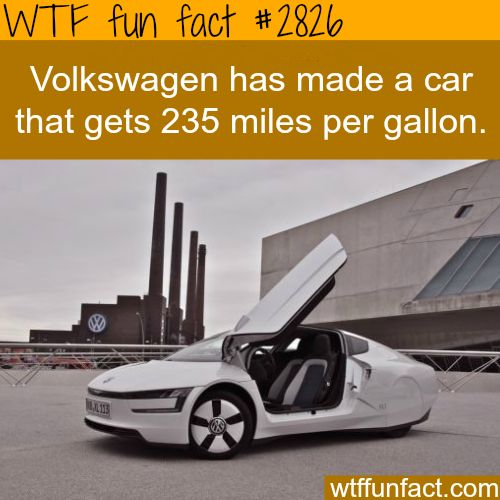 Volkswagen Created A Car That Gets 200 Miles Per Gallon Fun Facts Trivia Pinterest Weird And