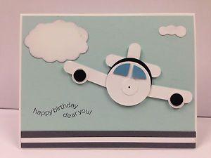 "Airplane Punch ART Stampin UP ""Birthday"" Card KIT 5 Cards | eBay"