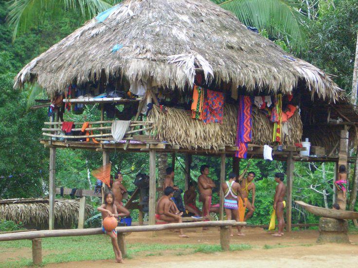 Tribu Emberá Practican la caza y la pesca, por lo general el hombre embera sale sólo a conseguir el alimento. Estos indígenas viven en pequeñas parcelas construidas a orillas del río.