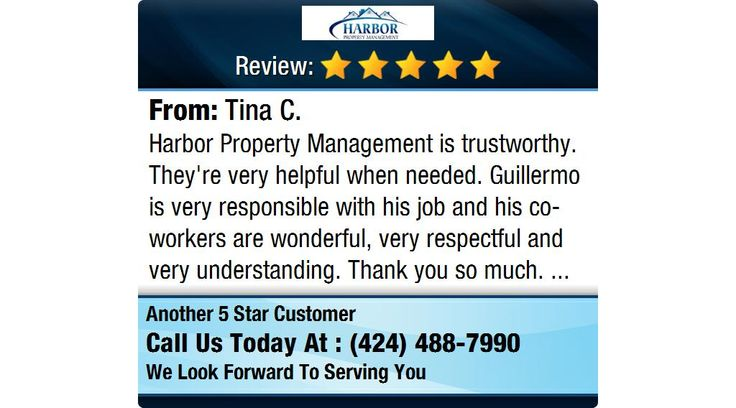 My experience with Harbor Property Management has been incredible - property management job description