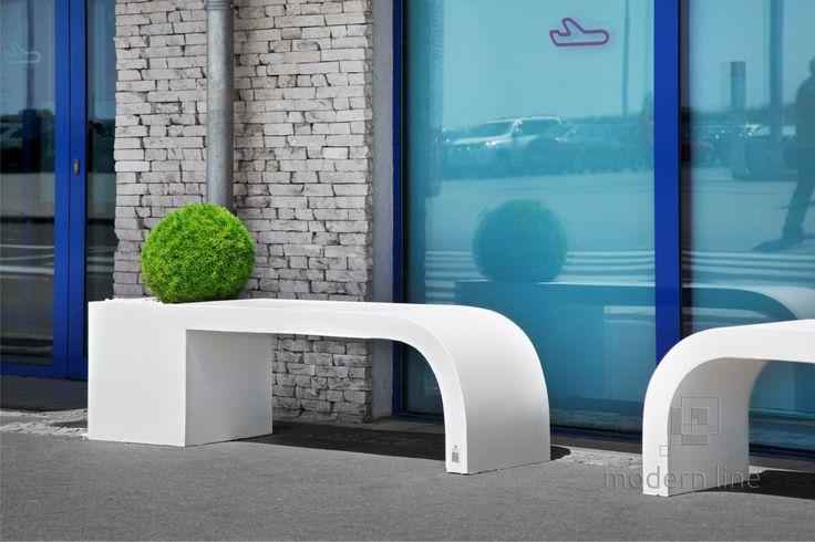 #bench #concrete #design #garden, #furniture,