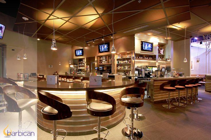 Installation: Custom backlit ceiling panels by Barbican | Denny's, Las Vegas, NV