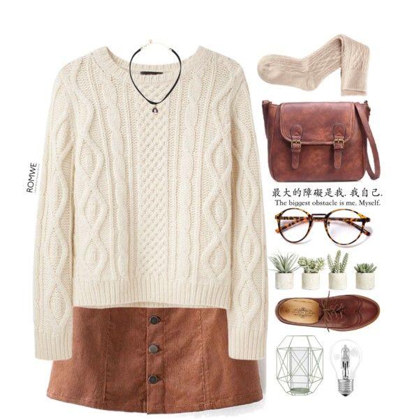 #Romwe by credentovideos on Polyvore featuring A.P.C., H&M, dELiA*s, Allstate Floral, Bloomingville and Osram