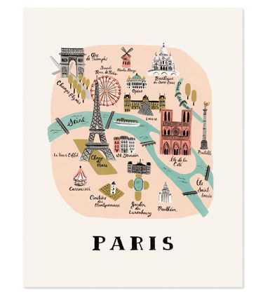 Paris Map Print // Lulu & Georgia Gift Shop // #luluandgeorgia #landggifts