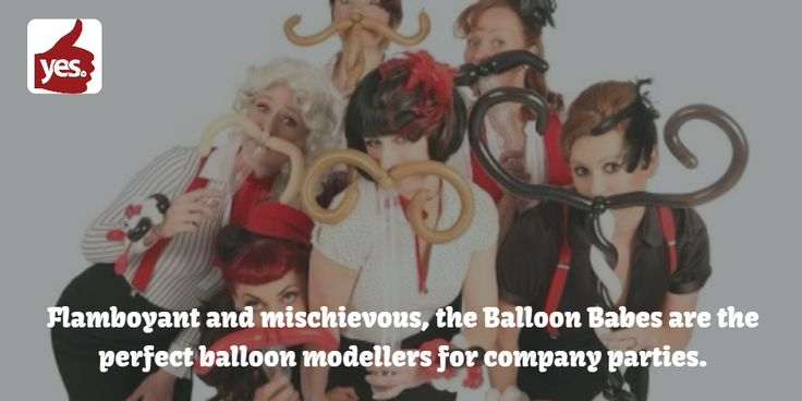 Flamboyant and mischievous, the Balloon Babes are the perfect balloon modellers for company parties. These artists make your guests the stars of the show and leave a long lasting impression every time!  https://goo.gl/GohYD1