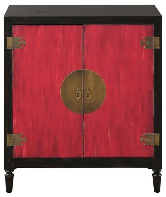Pulaski Tao Oriental Bar Chest, Red and Black accent-chests-and-cabinets