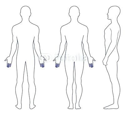 Unusual Male Body Outline Template Contemporary Example Business