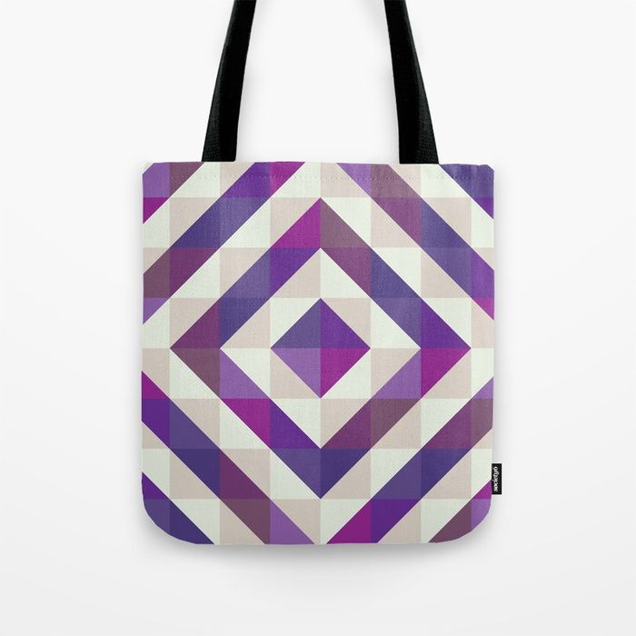 Patchwork Purples Tote Bag by Fimbis    Ultra violet, purple, shopping, bags, school, pattern, fashionista, symmetry, fashion,