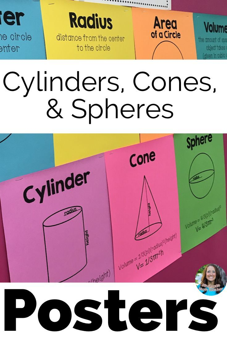 Volume Of Cylinders Cones And Spheres Posters Set 8th Grade Math Math Vocabulary Words Vocabulary Word Walls [ 1102 x 735 Pixel ]