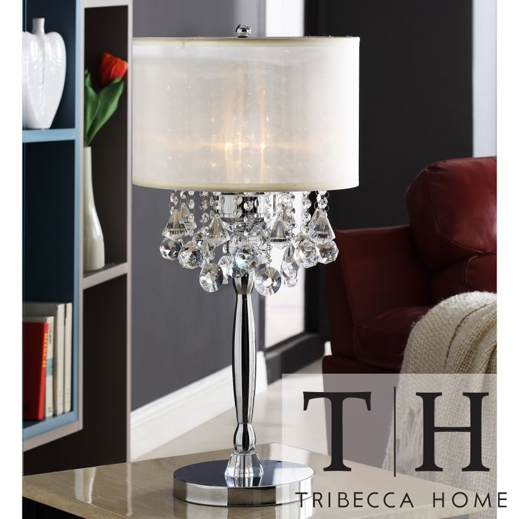 Add Some Flair And Elegance To Your Home With This Chrome Finished Crystal Table Lamp