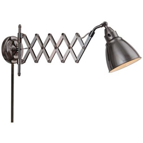 Kenroy Home Floren Copper Bronze Accordion Wall Lamp - $112 Go it goes to the ceiling ?