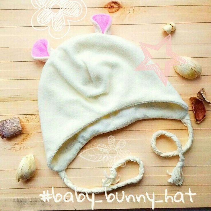 """Купить Флисовая шапка """"Мышонок"""" для девочки - шапка для девочки, шапка детская, на выписку из роддома"""